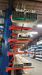 Warehouse Cantilever Racking Storage with Product