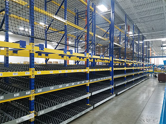 Carton Flow Racks with Netting