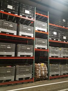 Pallet Flow Racking Storage with Consumable Goods