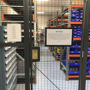 Tool Crib Security Gate for Workspace Storage