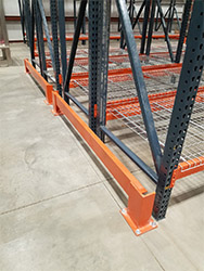 Selective Row Pallet Racking End of Aisle Guards