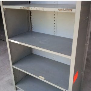 used shelving unit up close