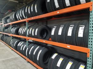 Auto Parts Store - Tire Racking Storage Shelving