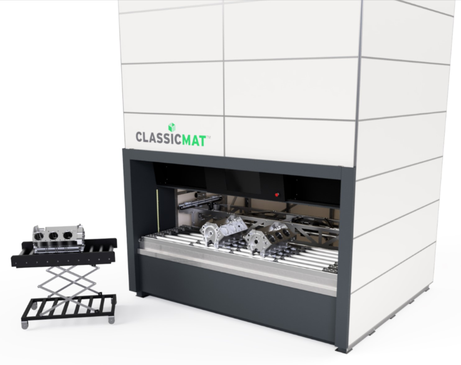 ClassicMat Storage System with Adjustable Cart