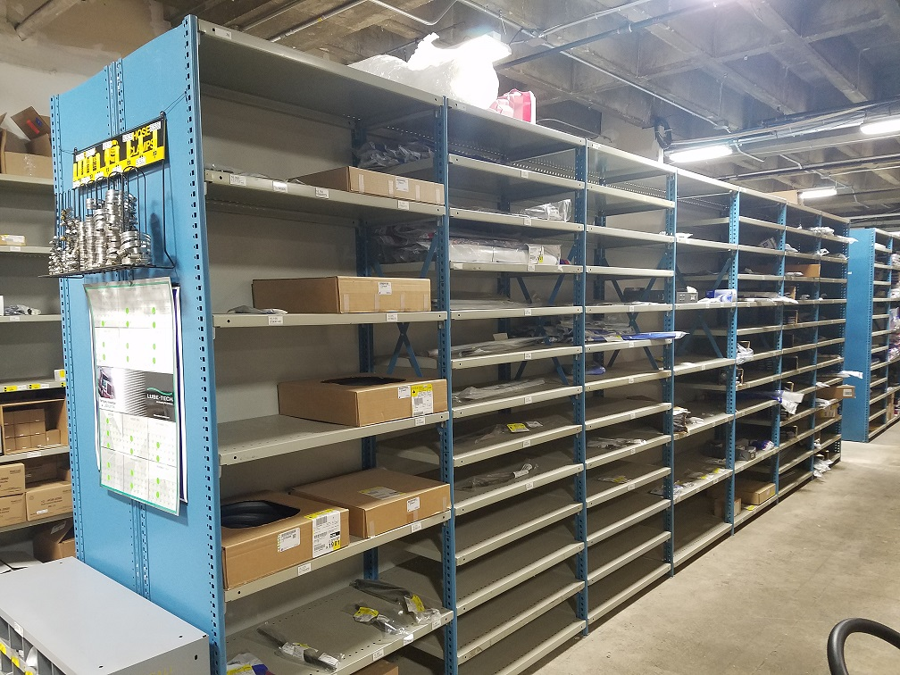 Parts Shelving in a warehouse